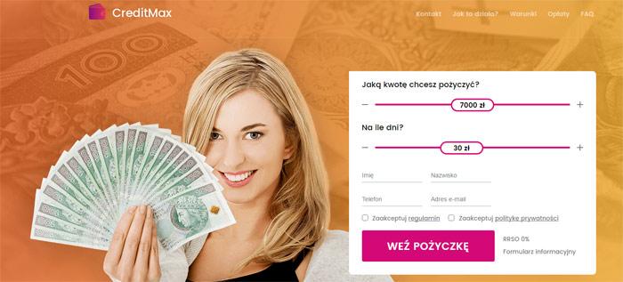 Creditmax czyli pożyczka przez internet