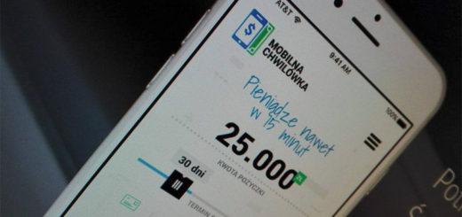 Mobilna Chwilówka przez aplikację