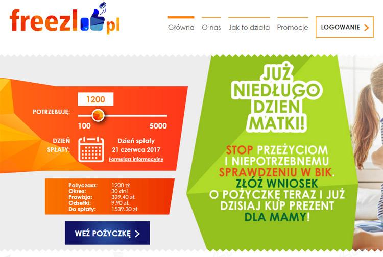 Freezl chwilówki online nowe